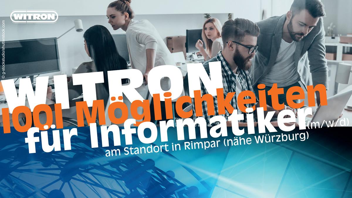 WITRON: 1001 Möglichkeiten für Informatiker (m/w/d) am Standort Würzburg-Rimpar