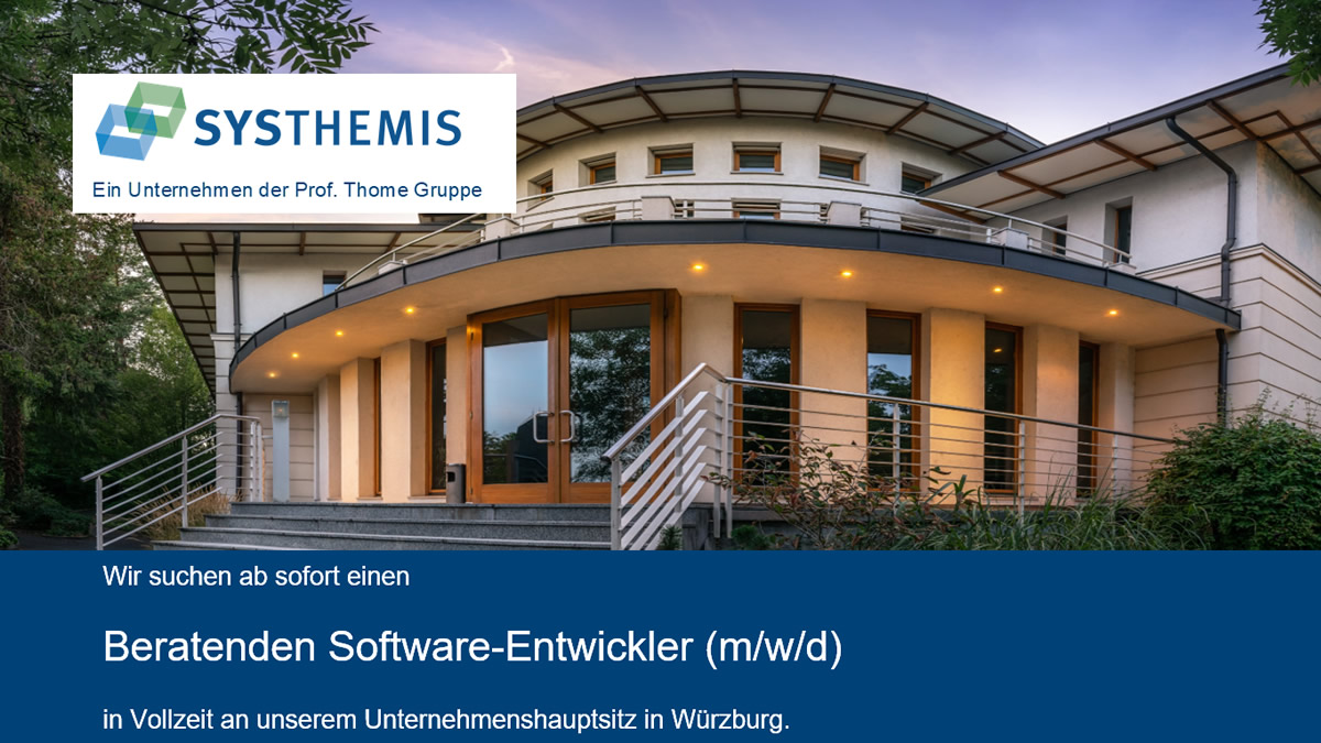 Beratender Software-Entwickler (m/w/d) bei der SYSTHEMIS AG