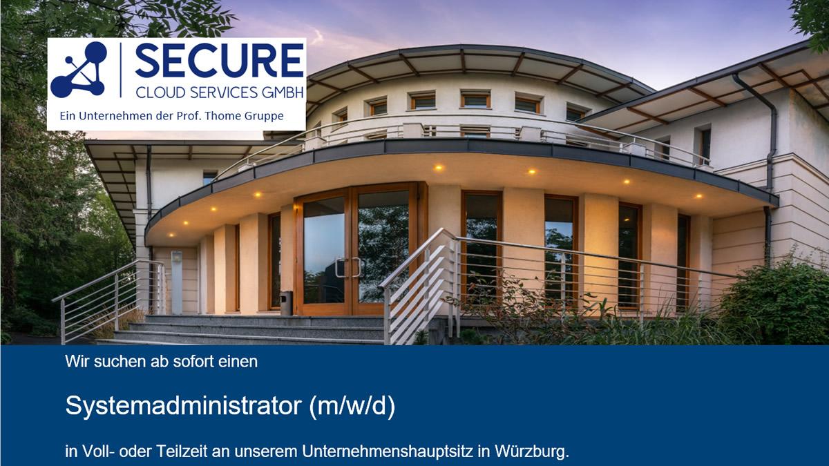 Systemadministrator (m/w/d) bei der SCS GmbH