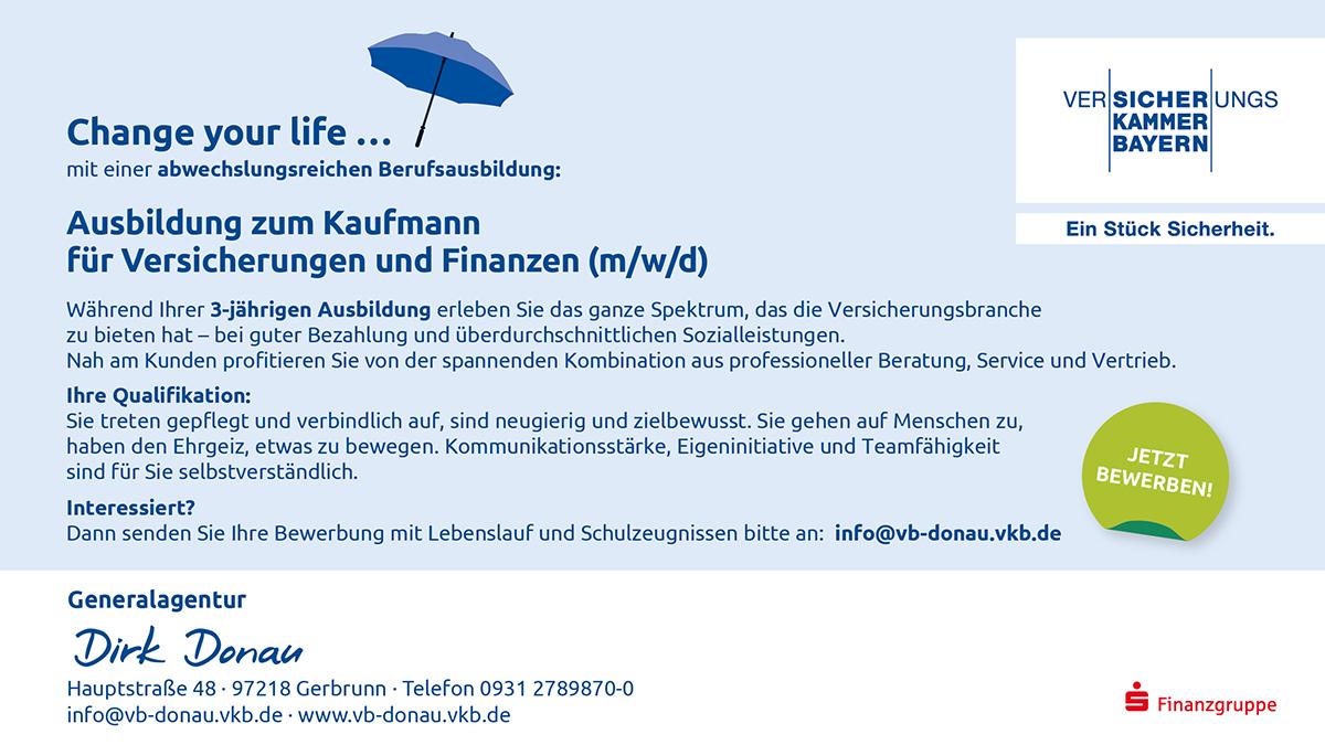 Ausbildung zum Kaufmann für Versicherungen und Finanzen (m/w/d)