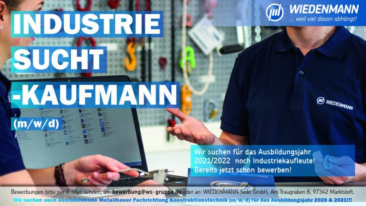 Ausbildung zur/m Industriekauffrau/-mann (m/w/d)