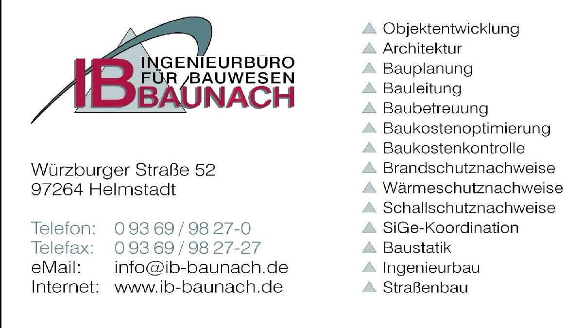 Ingenieurbüro Baunach sucht (m/w/d)
