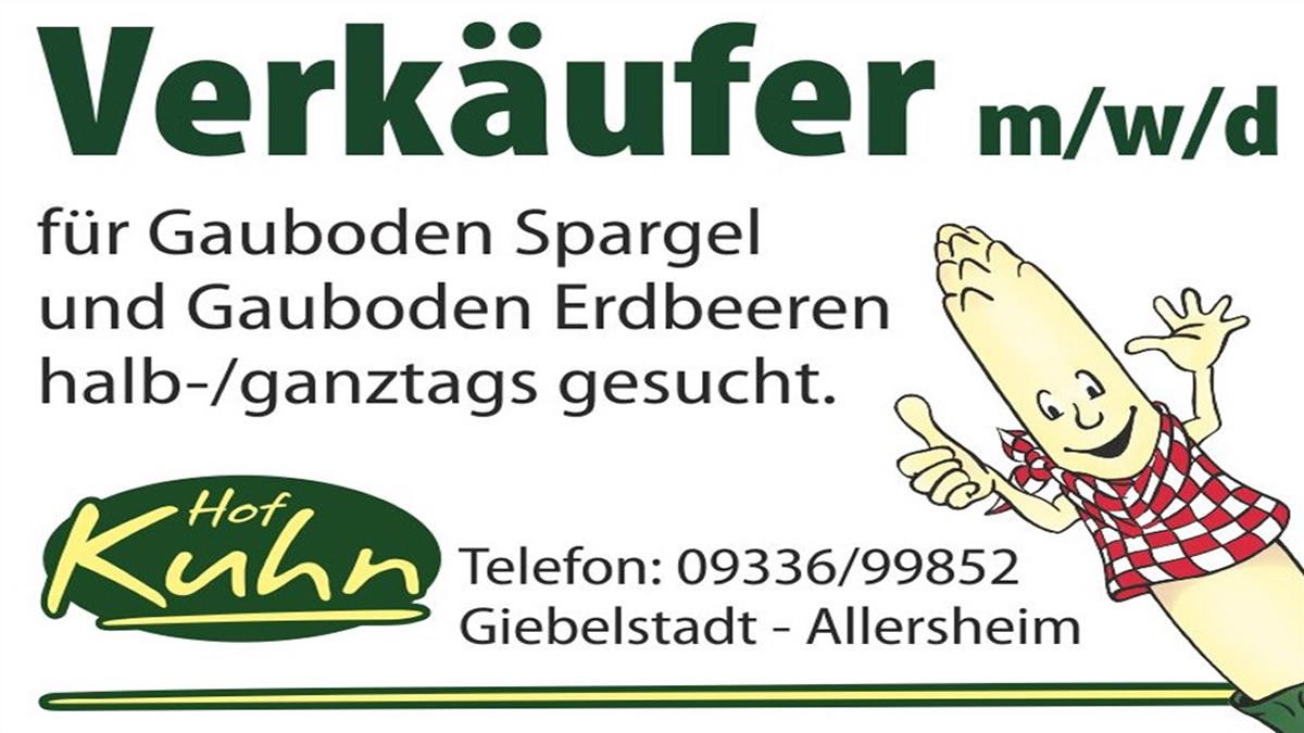 Verkäufer für Spargel und Erdbeeren in und um Würzburg m/w/d